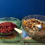Breakfast - Homemade muesli and fruit compote