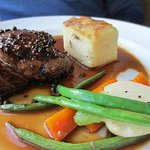 The beef tenderloin