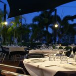 Alfresco dining in paradise