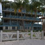 The beachfront condos
