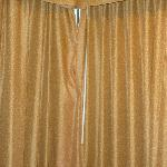 Corner room curtains from the inside