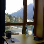 Blick vom Zimmerfenster