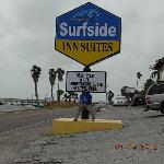 Surfside Inn sign & My husband