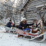 in slitta trainati dalle renne