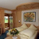 Zimmer mit Bergblick und Balkon