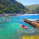 Get on your Kayak at the harbour inside Tsitsikamma National Park at Storms River Mouth. On doub