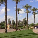 Golf course/rear of main resort area