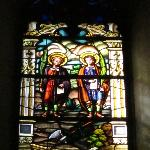 Stained glass window representing Justo & Pastor