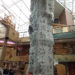 Kids Rock climbing in Le Forum in the evening was fun