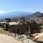 Etna from Amphitheatre behind hotel