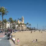 magnifica vista de la playa de Sitges