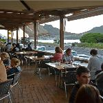 The terrace with view across Hout Bay