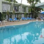 Interno hotel con piccola piscina