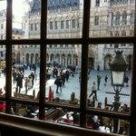 2nd floor view of the Grand Place