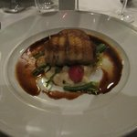 Main course sole made to match the excellent Piemonte wines of visiting wine producer