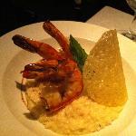Delicious shrimp risotto