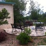 private patio for Cowboy Cottage