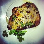 Honey & Mustard glazed tuna steak, with rosemary potatoes
