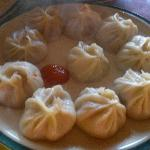 Hot steamy juicy chicken momos
