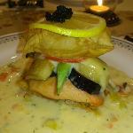 海の幸と季節野菜のミルフィーユ