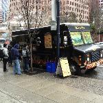 Food Truck outside the hyatt