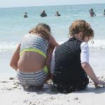 Grandkids in the sand