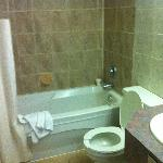 Pic of the bathroom (messed up by us)