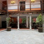 Interior of the hotel... used to be the courtyard.