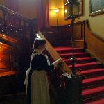 The Maid Cleaning Polishing The Banister