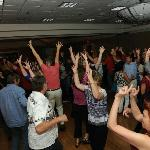 crowd having fun on the dance floor