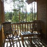 Our porch at the cabin.