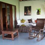 A sitting area at the guest villa