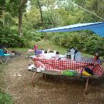 Spacious camp site