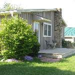 Rosebud Cottage, back deck