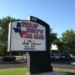 Texas Tony´s signboard
