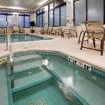 Indoor swimming pool and whirlpool for exercise and fun