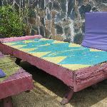 Pool sun loungers