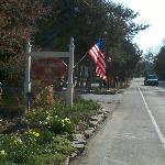 Entrance to Eagle Harbor Inn from Hwy 42