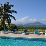 Our spectacular view of St. Kitts and the Caribbean