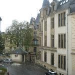 Vue de notre chambre, le palais Ducal