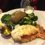 Lobster tail with drawn butter