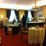 espectacular desayuno en el hotel