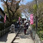 神社手前の石段