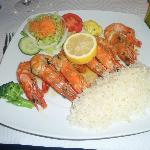 Prawns and rice to die for
