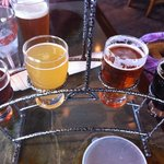 Beer sampler at The Gore Range Brewery
