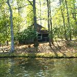 Our cabin - pic taken from a paddleboat on the lake