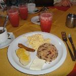 The typical C.R. breakfast...mmm, mmm, good!