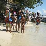 Me and the kids at the Quezon Island.