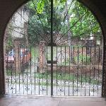 secure locked front entrance