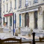 Вид на площадь из кафе KARL